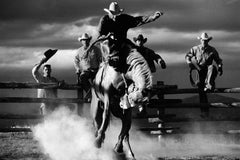 Bucking Horse, Black and White Photography, Marlboro Man, Horse