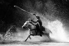 Roping Moment, Black and White Photography