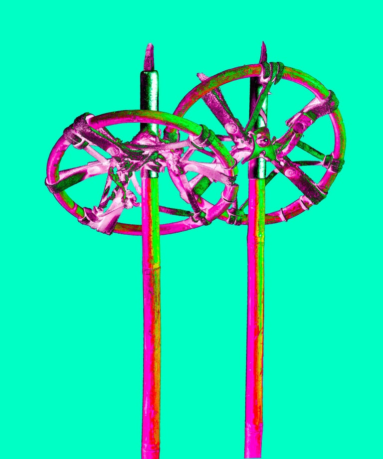 Stefano Zardini Color Photograph - THE SPARKLING ALPS ICONS Nr. 18, 2014, 60 x 50 cm, Ed. 8, Ski Sticks