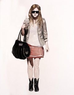 Courtney Incognito, 2008, water colour painting on paper by Courtney Miles
