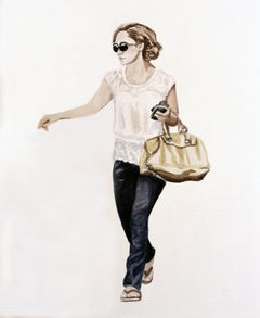 Courtney Incognito, watercolor painting on paper by Courtney Miles