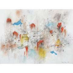Spring Almost. Limited edition giclee print by Bang Dang. Orange, Yellow & Blue