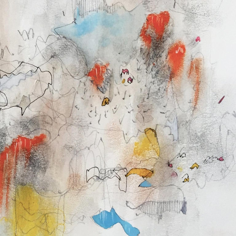 Spring Almost. Limited edition giclee print by Bang Dang. Orange, Yellow & Blue For Sale 3