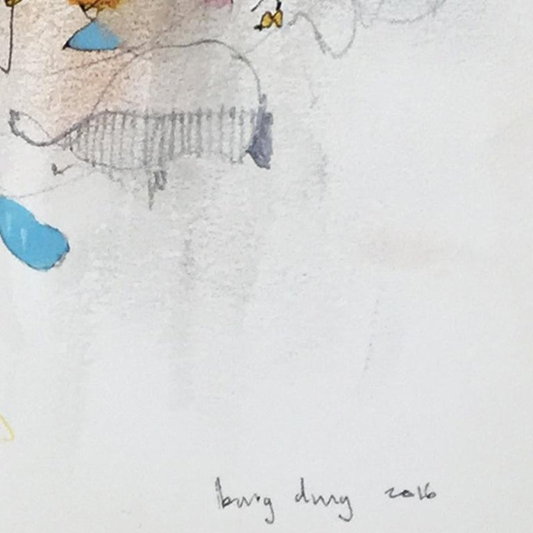 Spring Almost. Limited edition giclee print by Bang Dang. Orange, Yellow & Blue For Sale 4