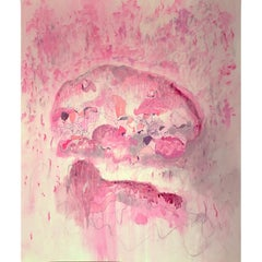 Floating Pink 01, by Bang Dang.  Abstract of pink and coral colors on paper