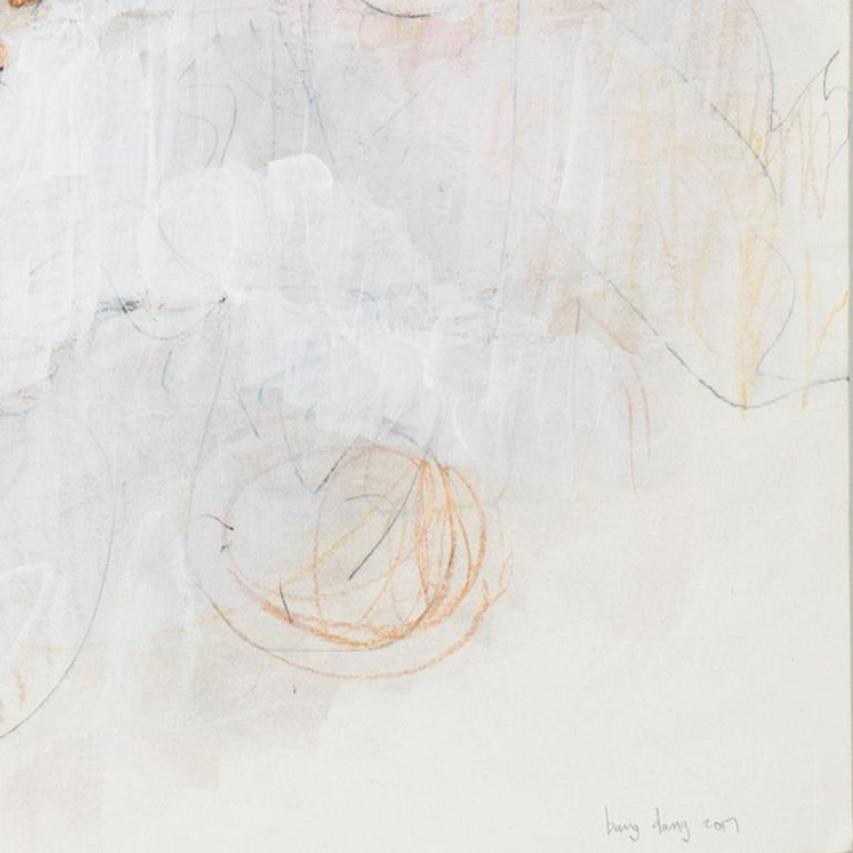 White on Scribbles 1. Abstract mixed medium drawing by architect Bang Dang, 2017 For Sale 6
