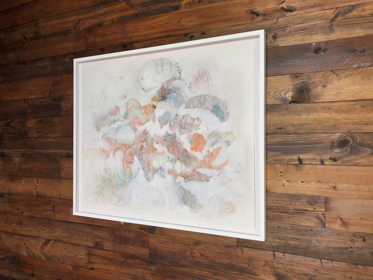 White on Scribbles 1. Abstract mixed medium drawing by architect Bang Dang, 2017 For Sale 1