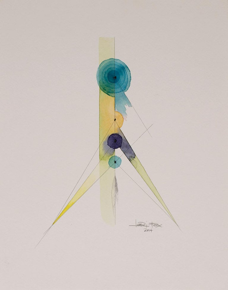 Totem 2.002, 2014 by Lori Fox Watercolor and graphite on paper Orginal from the Totem series. 14 x 11 inch unframed. Framed size is 15.25 x 12.25 x 1.75 inch (ask about framed price)  Totem:  An object as an emblem of revered symbol.  In this second