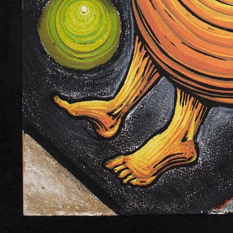 Orbiting Acceptance I by Courtney Nicole Googe. Pastels on black. Original print For Sale 3