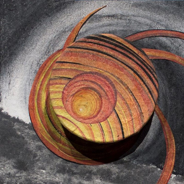 Orbiting Acceptance II by Courtney Nicole Googe. Charcoal drawing on print.  For Sale 3