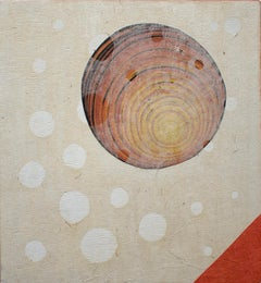Orbiting Acceptance III by Courtney Nicole Googe. Hand-printed reduction relief
