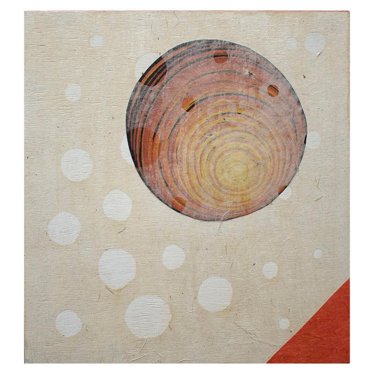 Orbiting Acceptance III by Courtney Nicole Googe. Hand-printed reduction relief For Sale 1