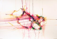 epiphany by Erin McAllister. Red and pink watercolor inks and water on paper.