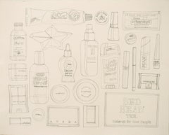 Every Beauty Product I Used Today 2 by Courtney Miles. Study, Graphite on paper