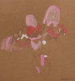 Filling the Brown - Square 16, Pink Transparent by Bang Dang. Abstract with pink