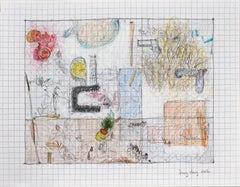 Weird Objects on Grid by Bang Dang. Study on graph paper. Architectural Abstract