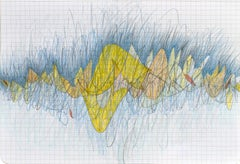 Pacing Yellow on Grid by Bang Dang. Yellow & Blue