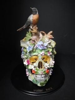Viridis Rex, Recycled ceramic Sculpture by English Artist Susan Elliott