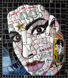For You I was a Flame, Recycled Ceramic Mosaic by English Artist Susan Elliott