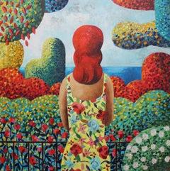 Rosas, Original Oil Painting by Spanish Artist Didier Lourenço