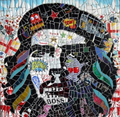 Che, Recycled ceramic mosaic by English Artist Susan Elliott