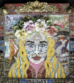 Goddess, Recycled ceramic mosaic by English Artist Susan Elliott