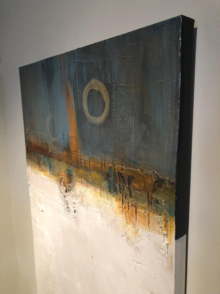 Through the artwork of Tige Reeve, you also catch a glimpse of the many layers of this particular artist, his perspective of composition, the need for structure, yet desire for freedom: and all that is to encompass a painting with information