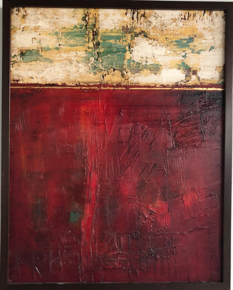 Tige Reeve Abstract Painting - Red Abstract 1