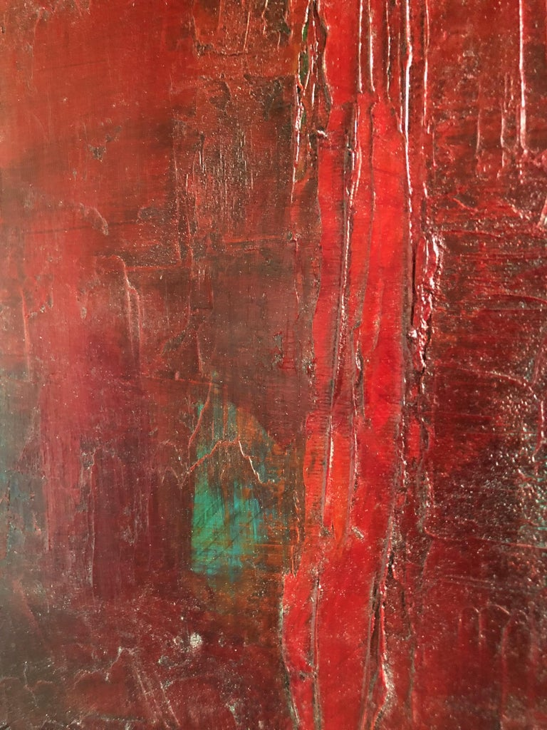 Red Abstract 1 - Painting by Tige Reeve