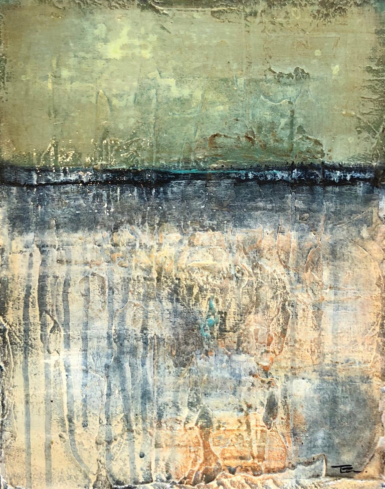 Dreamscape 2 - Gray Abstract Painting by Tige Reeve