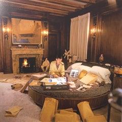 """Hugh Hefner on Round Bed"" Original Fine Art Print by Larry Gordon Edt 33 of 75"