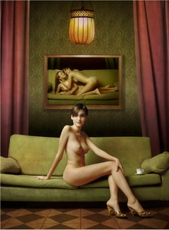 TEA TIME: modern fine art portrait photography by Mariano Vargas (52 x 39 Inch)