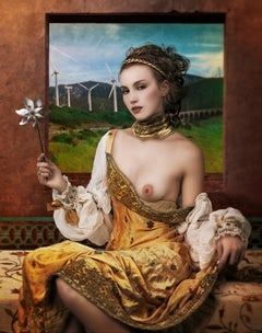 WIND LADY: modern fine art portrait photography by Mariano Vargas (49 x 39 Inch)