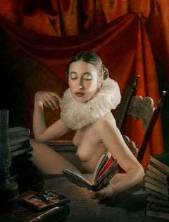 READING: modern fine art nude photography by Mariano Vargas (49 x 39 Inch)