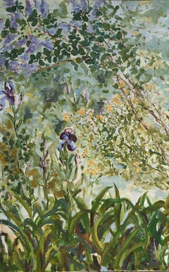 Blue Contemporary Floral French Riviera Contemporary Ceanothus and Iris