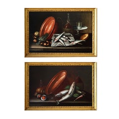 Pair of Italian Still Life (Fish) — Italian Painter