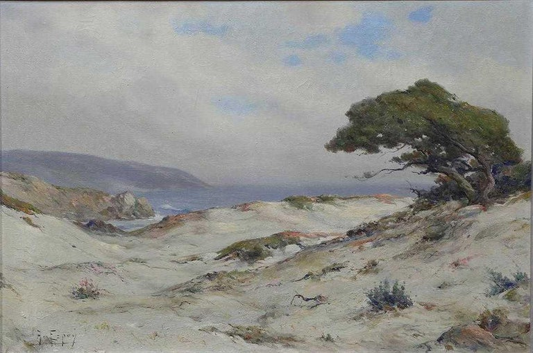 Angel Espoy (American, 1879-1963) Monterey Dunes Oil on canvas Signed lower left  20in H x 30in W In a gray painted wood frame: 22in H x 32in L