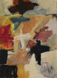 Takeshi Nakayoshi Original Painting Abstract Composition, 1999