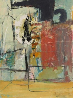 Takeshi Nakayoshi Original Painting Abstract Composition, 1998