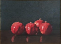 Robert Dodge 'Pomegranates' Large Contemporary Watercolor Gouache Still Life