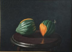 Robert Dodge 'Acorn Squash' Large Contemporary Watercolor Gouache Still Life