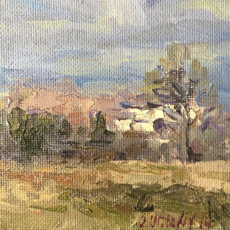 Oleg Ulitskiy 'Vancouver WA Wintertime' Impressionist Plein Air Painting For Sale 2