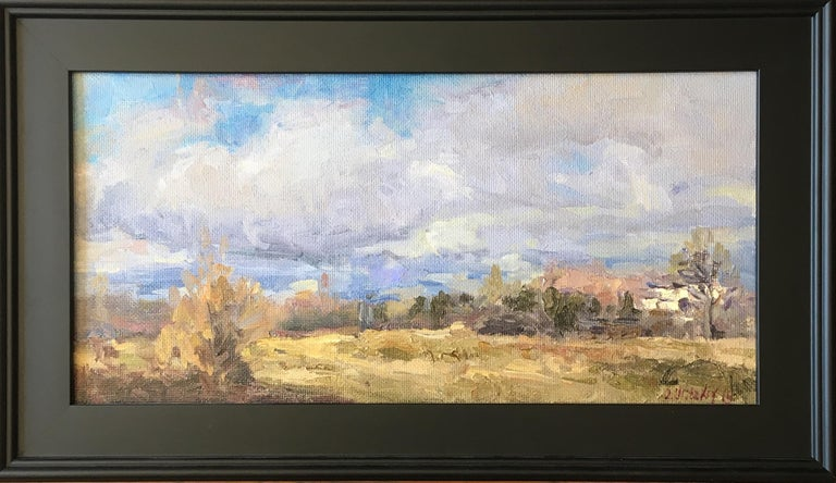 Oleg Ulitskiy 'Vancouver WA Wintertime' Impressionist Plein Air Painting For Sale 1