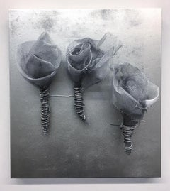 ROSES SILVER sculpture by Melanie Newcombe