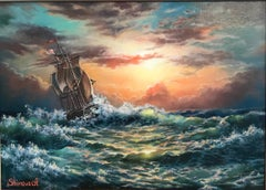 """Stormy Sea"" 20""x28"" in. Oil painting by Alina Shimova"