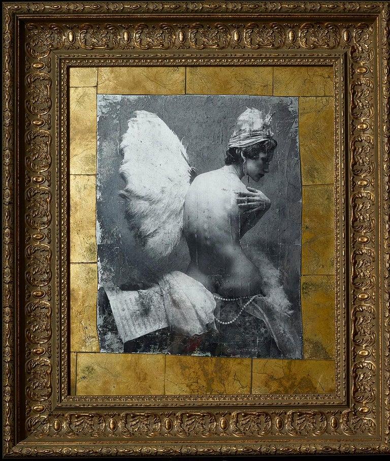 "Vladimir Clavijo-Telepnev Nude Photograph - ""Ballerina"" Photography 31""x28"" inch Ed. 3/3 by VLADIMIR CLAVIJO-TELEPNEV"