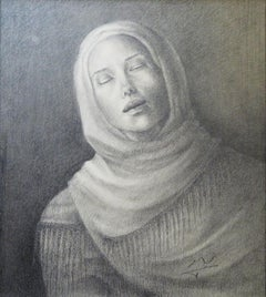 """""""Mariam"""" Signed Lithograph 24"""" x 20"""" by Nahmeya Saad"""