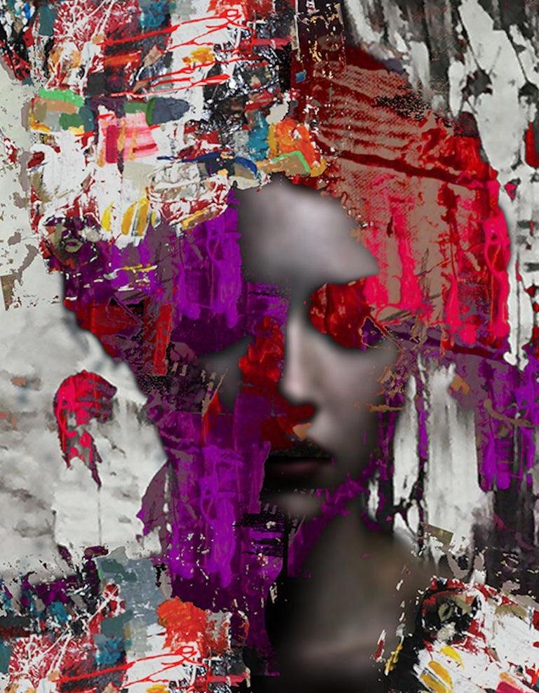 """Cautious optimism"" mixed media on C-print Hossam Dirar  - Mixed Media Art by Hossam Dirar"