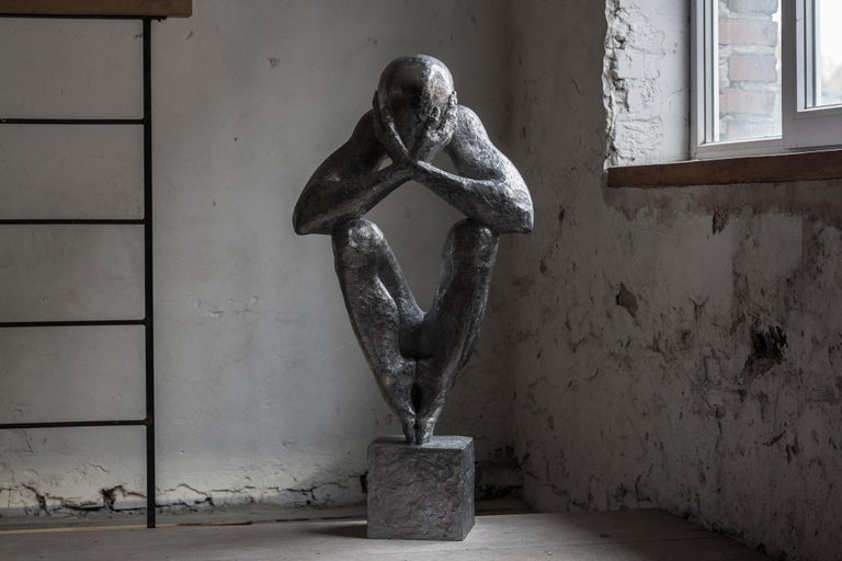 """№4 Aluminum sculpture Edition of 5 by Sergii Shaulis  From """"The man without a rod"""" series  Aluminum. Approximate weight 41lbs   The artist spent almost ten years of his life in the making of this eight-piece series. It is an introspective"""