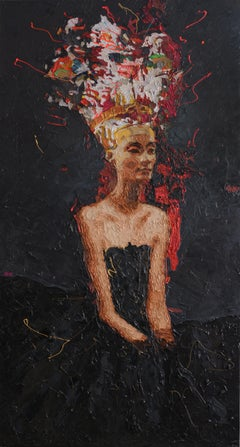 """Nefertiti 4"" oil painting by Hossam Dirar"